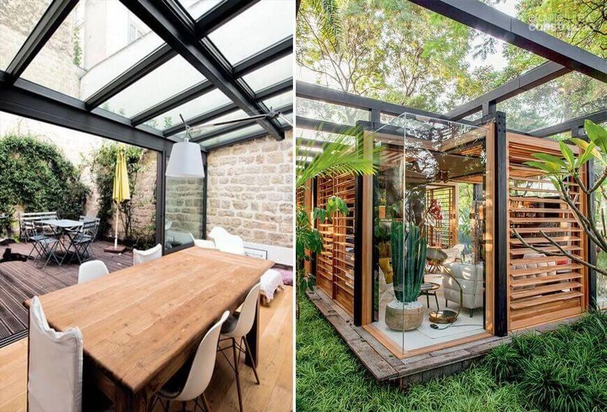 pergolas avec toit en verre